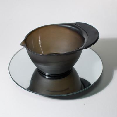 Мисочка для смешивания краски черная с резиновой накладкой