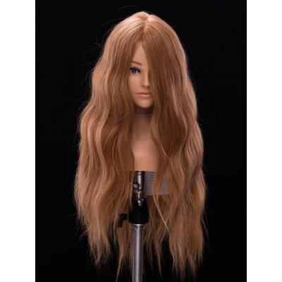 Манекен-голова женская  YY Hair ОМС 2С20R 50 см ( темный блонд)
