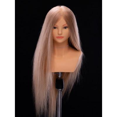 Манекен-голова женская  YY Hair ОМС W3124R 60 см (светлый блонд)