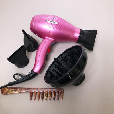 GAMMA Фен для волос E.T.C. LIGHT Tormalionic розовый + диффузор, расческа