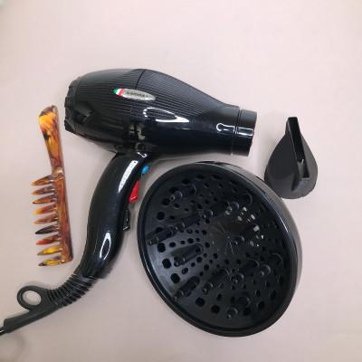 GAMMA Фен для волос E.T.C. LIGHT Tormalionic черный + диффузор, расческа
